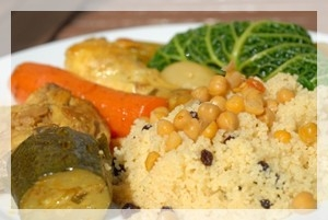 Moroccan cooking class : COUSCOUS WITH SEVEN VEGETABLES